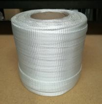 Tunnelband 25 mm wit polyester 100 mtr.